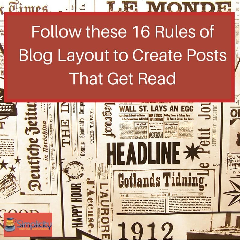 16 Rules of Blog Layout