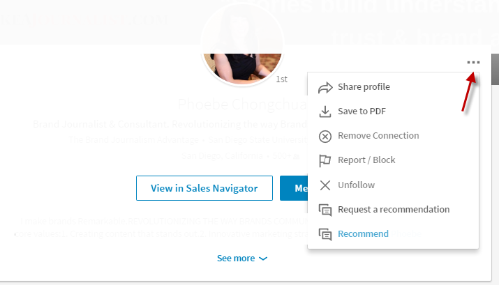 delete contacts on LinkedIn