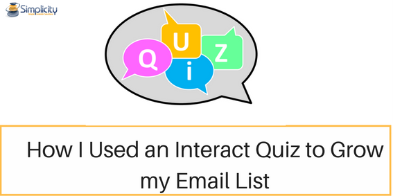 How I used an Interact Quiz to Grow My Email List