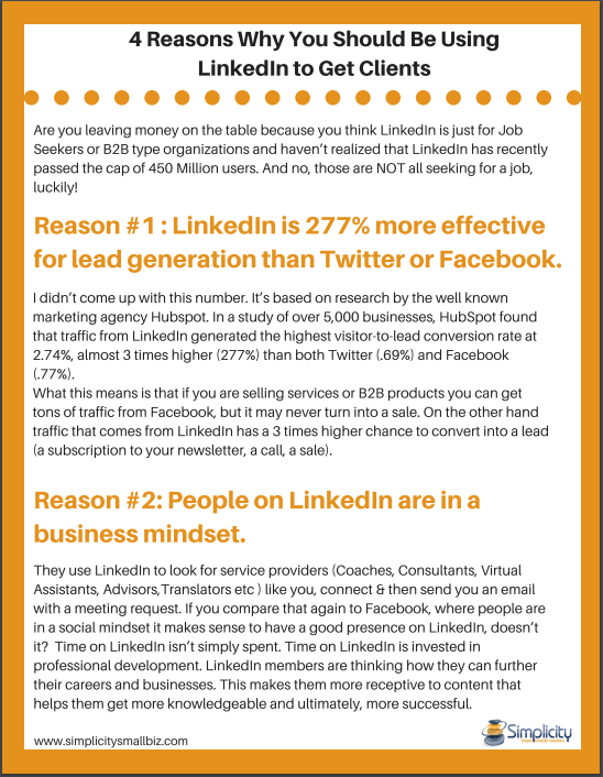 4 Reasons Why You Should Be Using LinkedIn to Get Clients